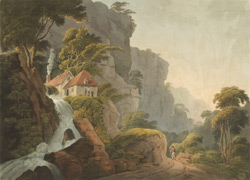 View of Mirables among the rocks